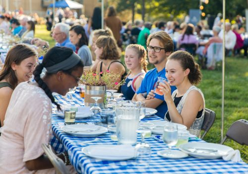 UNC Asheville's Farm-to-Table Dinner.